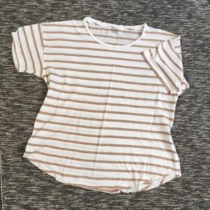 Madewell Whisper Striped Cotton Crewneck Tshirt XL